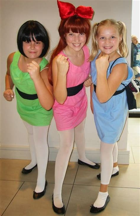 Girls powerpuff buttercup teen costume deluxe costume jpg 434x667